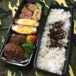 (๑╹ω╹๑ )にーさん今日のお弁当☆ハンバーグとさつま芋子さん☆