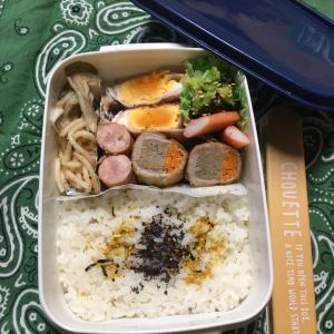 (๑╹ω╹๑ )にーさん今日のお弁当☆肉巻きハンバーグ☆