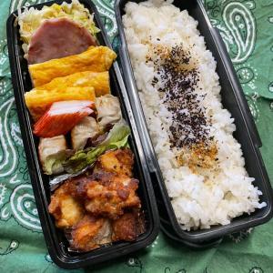 (๑╹ω╹๑ )にーさん今日のお弁当☆唐揚げ&焼売のお弁当☆