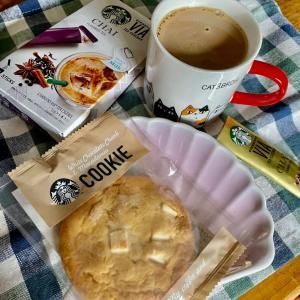 (*・ω・)ノ【おうちでスタバ】ほっこりホワイトチョコレートアンドマカダミアクッキー☆