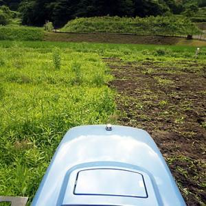 畑、耕うんからうね立て
