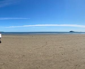 ビーチでお散歩。