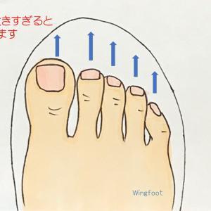 靴先の中の足指