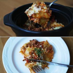 New Recipe! お鍋で作る「ラザニア」♪