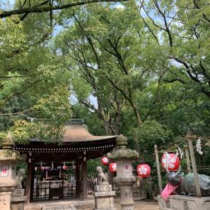 朝夕晩と湊川神社 夏祭りと献燈祭
