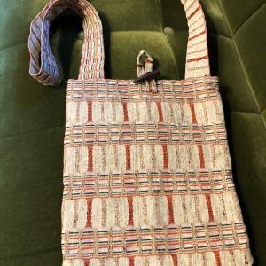 手作りのバッグをいただきました!帯で作ったアイデアバッグ
