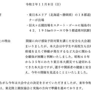 東日本女子駅伝の中止決定理由に抱く違和感