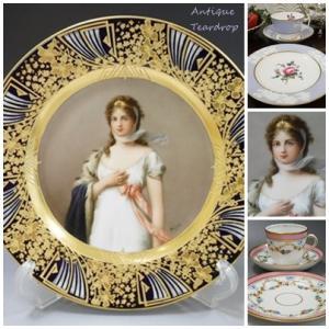 ★★Teardrop 美しいマリー・ルイーズ絵皿です★★