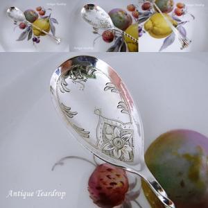 ★★Teardrop 優雅な花紋のジャムスプーン★★