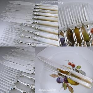 ★★Teardrop 白蝶貝ハンドルのデザートナイフ&フォークセット入荷です★★