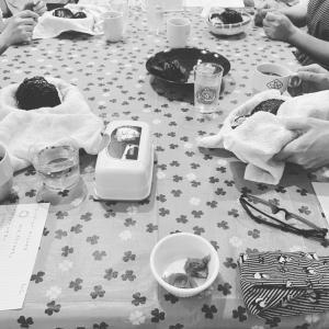 おむすび結ぶ会開催しましたよーで、5月におむすびカフェやりますよ!
