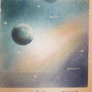 初めて宇宙を描きました