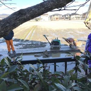 町水道の漏水修復工事