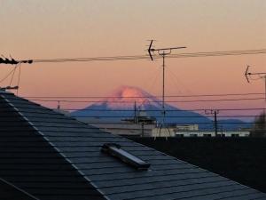 披露山公園からの富士山!
