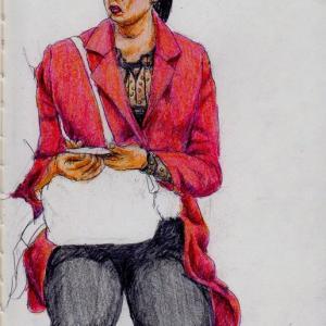 赤いジャケットのお姉さん&ブログ10年間の思い出