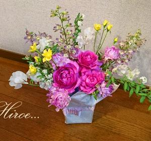 『二十歳(ハタチ)の君へ~新成人へ贈る花~』(オンラインレッスン作品)