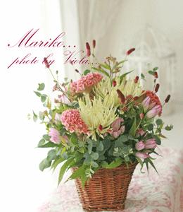 秋の花を集めて、あの人へ♪(レッスン作品)