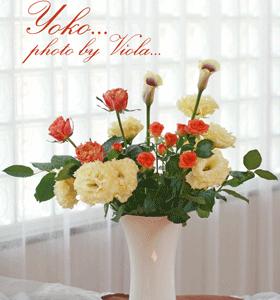 花選びの練習と投げ入れスタイル♪(レッスン作品)