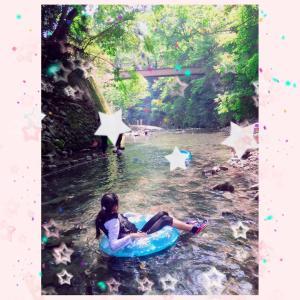 ★川遊びと天然水かき氷★