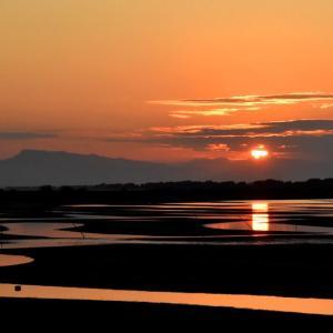 真玉海岸の今日の夕景です