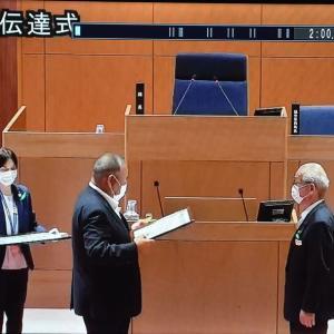 市議在職50年で全国市議会議長会から表彰される
