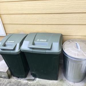 ★雨上がりのひと仕事*玄関ポーチとゴミ箱を洗う★