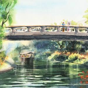 「伏見の運河を描く」透明水彩メイキング動画を作りました☆