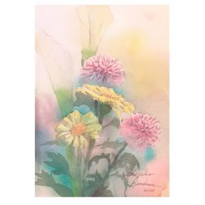 透明水彩画「春の囁き」 グリザイユはどうかなぁ?