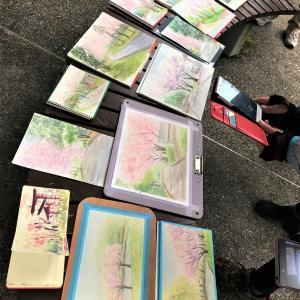 3.31くろかわ透明水彩画教室「山田池公園スケッチ会」