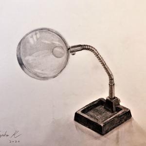 【鉛筆デッサン】虫眼鏡 & 趣味の絵の醍醐味