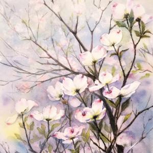 空を押し上げる花「花水木」 & 私の絵だけ(文章無し)のブログ
