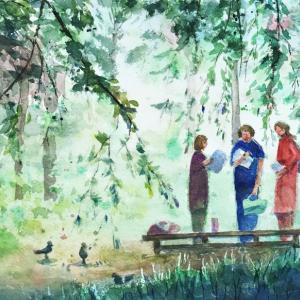 透明水彩の瑞々しさが開花する秋
