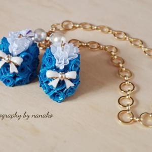 ブルーのバラで作った小さなくつ Hさんの作品