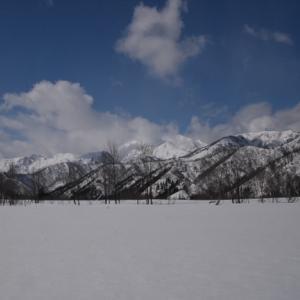 少雪の銀山平