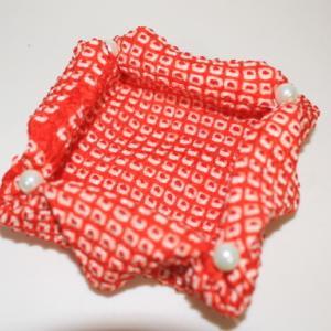 羽織のあまり布で小物入れ