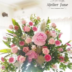 資格を取るとスタンド花も作れるようになる【フラワーアレンジメント教室校神戸市】