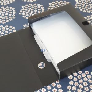 セリアのA4フォルダーインバッグを使って息子のテストファイルを作成