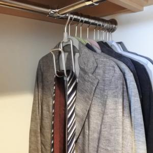 ネクタイ収納に便利な無印アルミハンガーネクタイ用&ポチ報告