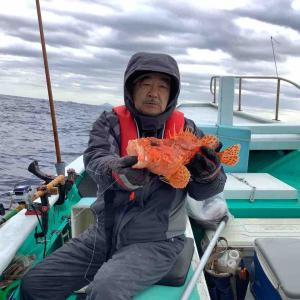 オニカサゴ釣りで出船してます。