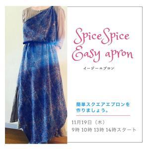 11/19★SpiceSpice EASYエプロン作り
