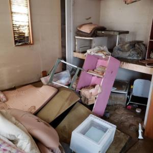 台風の被害にあった姪っ子の家