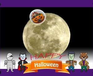今年のハローウィンは満月!
