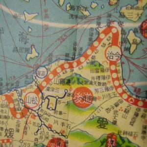 昭和9年鉄道路線図・サムネイル版39=愛媛