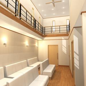 待合室が音楽ホールにもなるクリニックを建てよう。