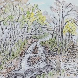 晩秋の西岡水源地へ(2)