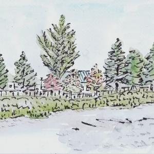 自転車で真駒内公園へ