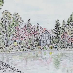 紅葉の始まった紅桜公園(1)