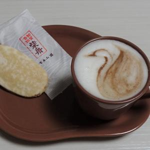 金沢の銘菓柴舟とカフェモカ