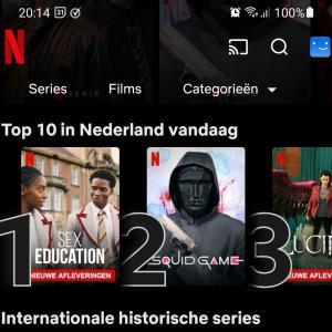 イカゲームがオランダで2位!
