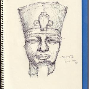 エジプト美術 II ーアメンホテプIII世像頭像ー   Egyptian Art II   -Head of Amenhotep III-